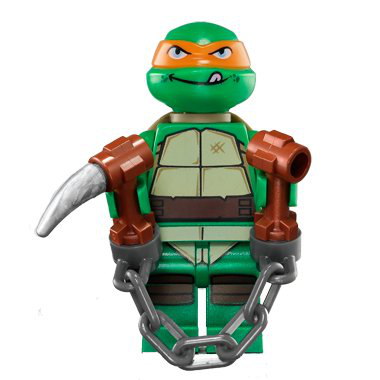 Lego Tmnt - Michelangelo V2 Minifigure - Teenage Mutant Ninja Turtles